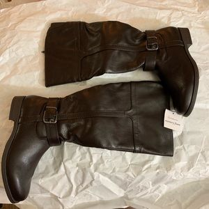 Croft & Barrow Knee High Brown Boots 7 M